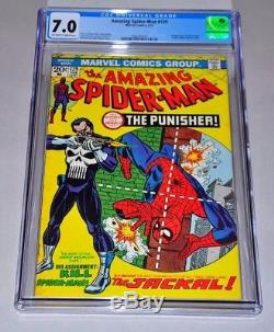 Amazing Spider-Man 129 CGC 7.0 OWithW Pages 1st Punisher