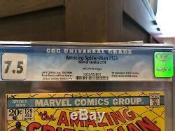 Amazing Spider-Man #129 CGC 7.5 MEGA KEY 1st Appearance of the Punisher