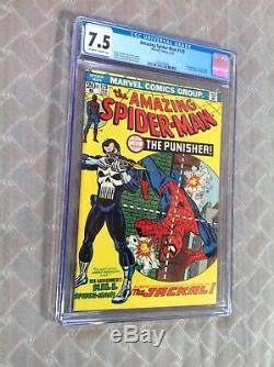 Amazing Spider-Man 129 CGC 7.5 OW-W 1st Punisher