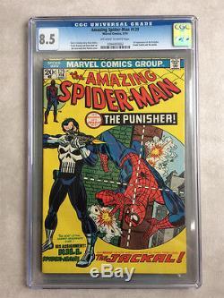 Amazing Spider-Man #129, CGC 8.5, 1st Punisher
