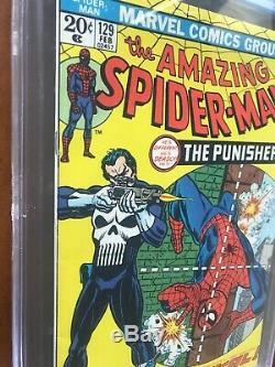 Amazing Spider-Man #129 CGC 8.5 KEY (1st Punisher, Frank Castle) Feb. 1974 Marvel