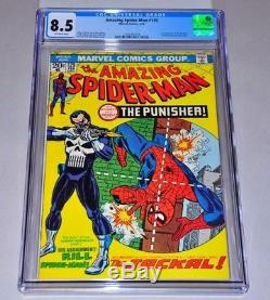 Amazing Spider-Man 129 CGC 8.5 OW Pages 1st Punisher