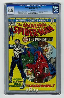 Amazing Spider-Man #129 CGC 8.5 VF+ Bronze Age KEY! 1st Punisher Marvel Comics