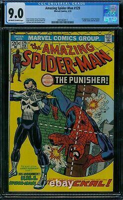 Amazing Spider-Man 129 CGC 9.0 1st Punisher