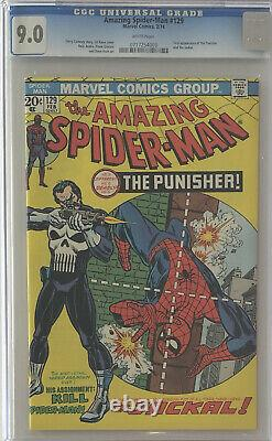 Amazing Spider-Man #129, CGC 9.0. 1st appearance of the Punisher and the Jackal