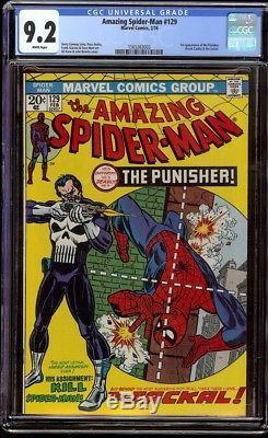 Amazing Spider-Man # 129 CGC 9.2 White (Marvel, 1974) 1st appearance Punisher
