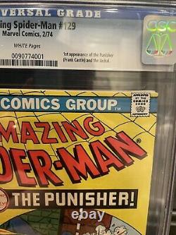 Amazing Spider-Man 129 Cgc 9.2 WP Graded First Appearance 1st App Punisher