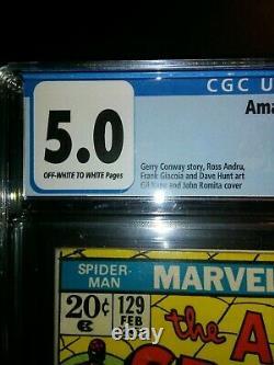 Amazing Spider-Man 129 First Punisher CGC 5.0