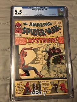 Amazing Spider-Man #13 CGC 5.5 (1st Mysterio & Orig) 1964 Marvel