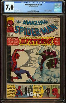 Amazing Spider-Man #13 CGC 7.0 White Origin First appear Mysterio HUGE SA KEY