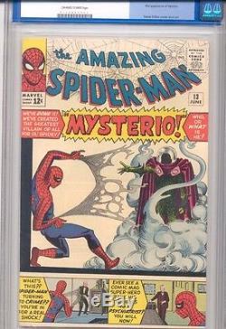 Amazing Spider-Man #13 CGC 9.0 VFNM- Marvel 1964 1st App Mysterio WORLDWIDE