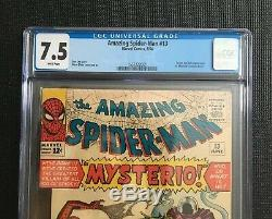 Amazing Spider-Man 13 First Mysterio CGC 7.5 White Pages Far From Home Movie