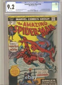 Amazing Spider-Man #134 CGC 9.2 1st appearance of the tarantula and 2nd punisher