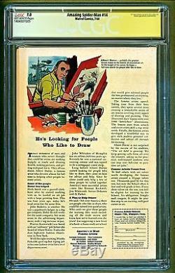 Amazing Spider-Man #14 1964 Marvel 1st app Green Goblin Signed Stan Lee CGC 7.0