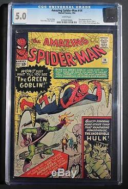 Amazing Spider-Man #14 1st Green Goblin (Marvel 1964) CGC VG/FN 5.0 Universal