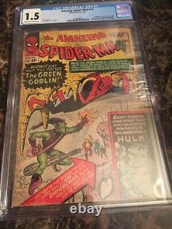 Amazing Spider-Man #14 CGC 1.5 1st Green Goblin + 1st Hulk/Spider-Man Meeting