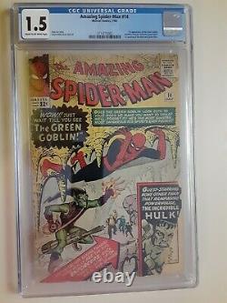 Amazing Spider-Man #14 CGC 1.5 1st Green Goblin & Hulk meets Spiderman