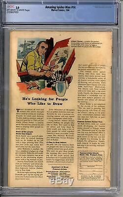 Amazing Spider-Man #14 CGC 2.0 (OW-W) 1st Appearance of the Green Goblin