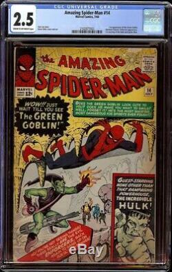 Amazing Spider-Man # 14 CGC 2.5 CRMOW (Marvel, 1964) 1st appearance Green Goblin