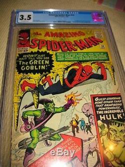 Amazing Spider-Man #14 CGC 3.5 Green Goblin Stan Lee Steve Ditko Marvel 1964