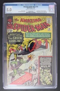 Amazing Spider-Man #14 CGC 5.0 VG/FN Marvel 1964 1st App of Green Goblin