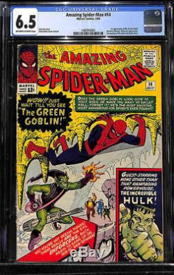 Amazing Spider-Man #14 CGC 6.5 1964 1st Green Goblin! Hulk! Avengers! G9 141 cm