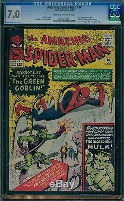 Amazing Spider-Man 14 CGC 7.0 1st Green Goblin