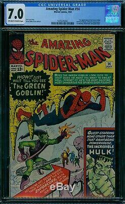 Amazing Spider-Man 14 CGC 7.0 1st Green Goblin owithw pages