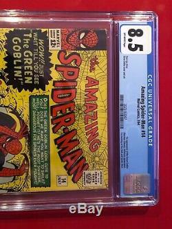 Amazing Spider-Man #14 CGC 8.5 1st Green Goblin super HOT Silver Age Key