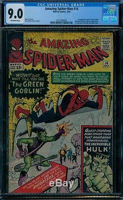 Amazing Spider-Man 14 CGC 9.0 1st Green Goblin
