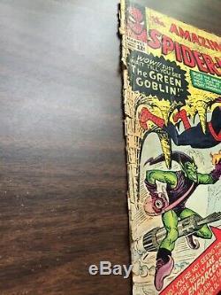 Amazing Spider-Man #14 Fr Range (Not CGC) 1ST GREEN GOBLIN APPEARANCE