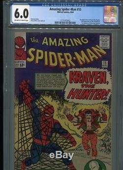 Amazing Spider-Man #15 (1st Kraven) CGC 6.0 OW-WP