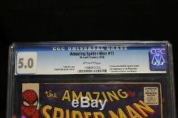 Amazing Spider-Man #15 CGC 5.0 (Marvel) HIGH RES PICTURES