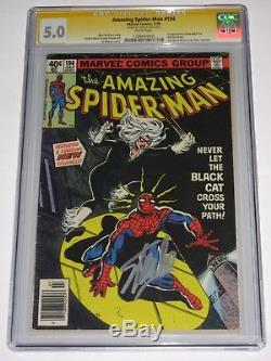 Amazing Spider-Man #194 CGC 5.0 SS Signed Stan Lee FIRST Black Cat KEY
