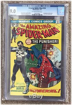 Amazing Spider-Man (1963 1st Series) #129 CGC 9.0 Netflix TV Series First Punish