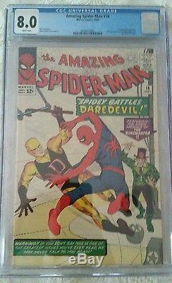 Amazing Spider-Man (1963 1st Series) #16 CGC 8.0 White Pages
