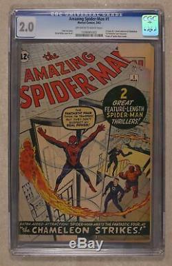 Amazing Spider-Man (1st Series) #1 1963 CGC 2.0 1336081002