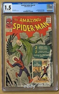 Amazing Spider-Man #2 CGC 1.5 1st Appearance of Vulture FAST SHIPPING