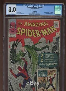 Amazing Spider-Man 2 CGC 3.0 GD/VG MARVEL 1963 1st Vulture