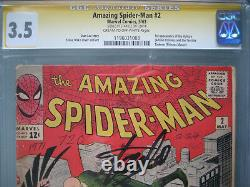 Amazing Spider-Man #2 CGC 3.5 SS Signed Stan Lee 1st Vulture (Adrian Toomes)
