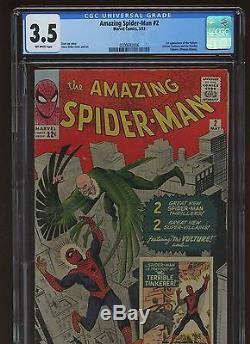 Amazing Spider-Man 2 CGC 3.5 VG MARVEL 1963 1st Vulture