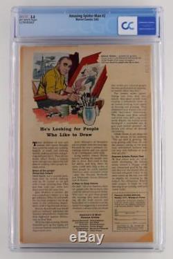 Amazing Spider-Man #2 CGC 3.5 VG- Marvel 1963 -1st App of Vulture- 3rd Spidey