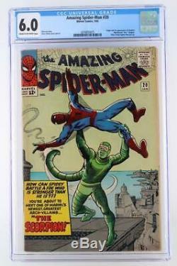 Amazing Spider-Man #20 CGC 6.0 FN Marvel 1965 1st App/ORIGIN of Scorpion