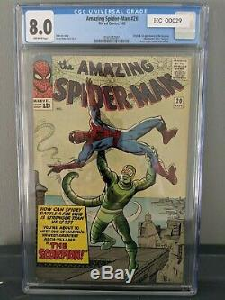 Amazing Spider-Man #20 CGC 8.0 First Appearance of The Scorpion! Steve Ditko