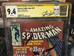 Amazing Spider-Man #252 CGC 9.4 SS Signed by Stan Lee