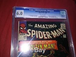 Amazing Spider-Man # 28 CGC 6.0 Silver Age Comic First appearance of Molten Man