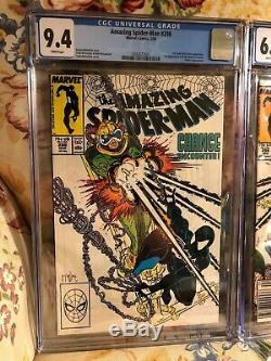 Amazing Spider-Man #298 #299 & #300 CGC Comics 1st Appearance Venom 3 Issue Run