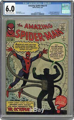 Amazing Spider-Man #3 CGC 6.0 1963 0913976004 1st app. Doctor Octopus