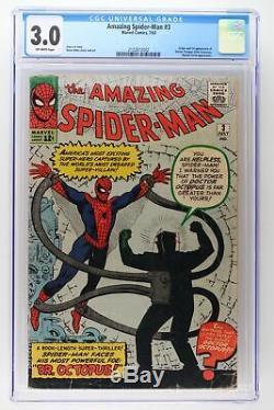Amazing Spider-Man #3 Marvel 1963 CGC 3.0 -Origin & 1st App Doctor Octopus