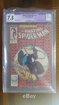 Amazing Spider-Man #300 1988 CGC 7.5 1st full appearance Venom McFarlane C-1
